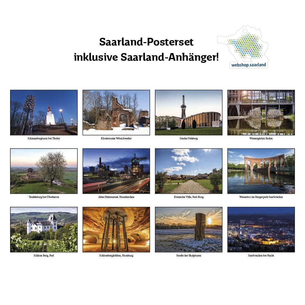 12-er Poster-Set Saarland