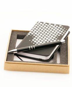 Geschenkset Notizbuch klein schwarz