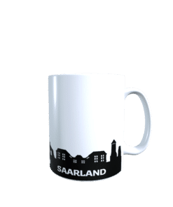 Hochglanz-Keramiktasse Saarland Skyline
