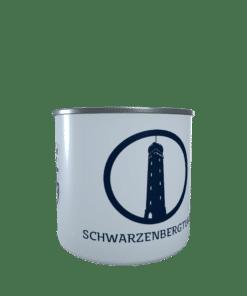 Emaille-Tasse Silhouette Schwarzenbergturm Saarbrücken